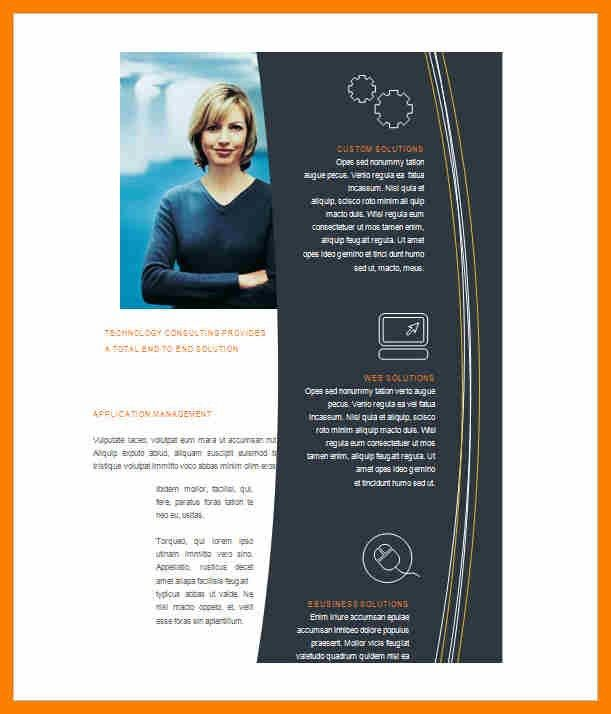 5+free brochure templates for microsoft word | hostess resume
