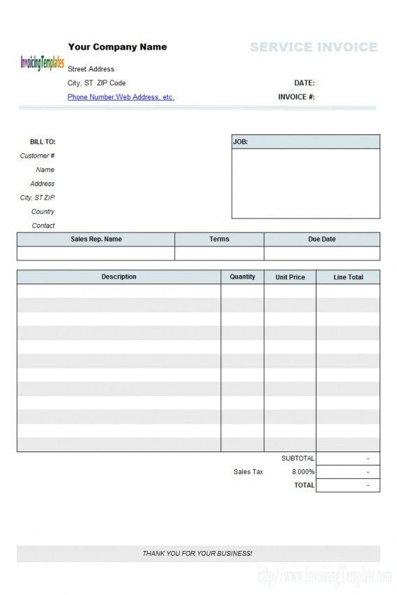 Download Work Invoice Template Free Word | rabitah.net