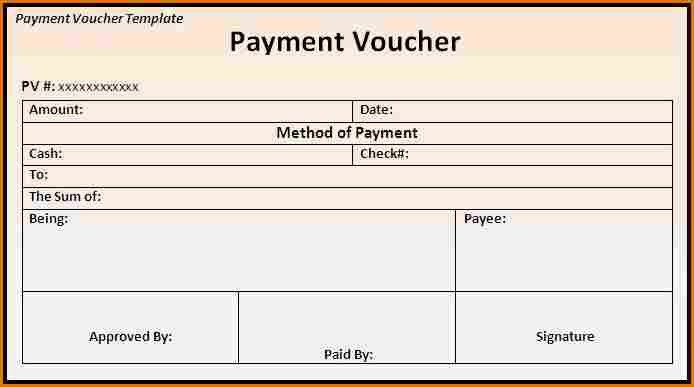 8+ payment voucher template   Job Resumes Word