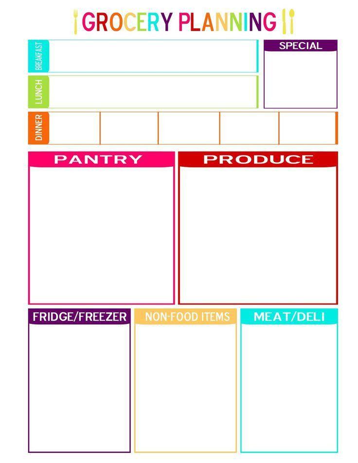 The 25+ best Meal planning templates ideas on Pinterest | Menu ...