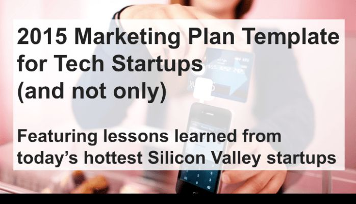 Marketing Plan Template for Tech Startups (and not only) | Justyna ...