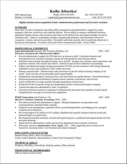 Objective For Executive Assistant Resume Example 5 | ilivearticles ...