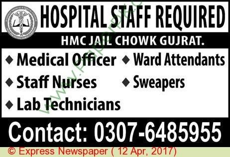 Medical Officer Staff Nurses & Lab Technician Jobs In Gujrat on 12 ...