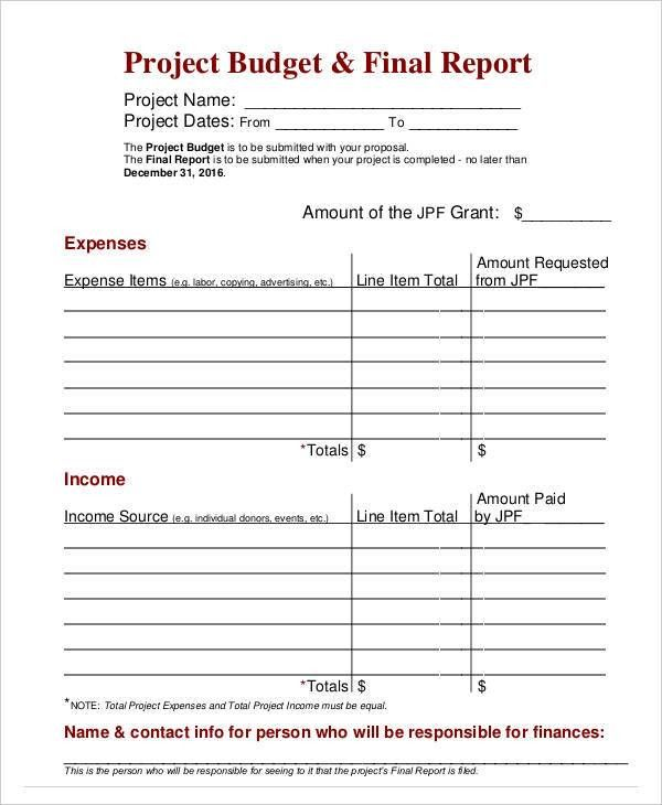 Budget Report Templates - 10+ Free Word, PDF Format Download ...