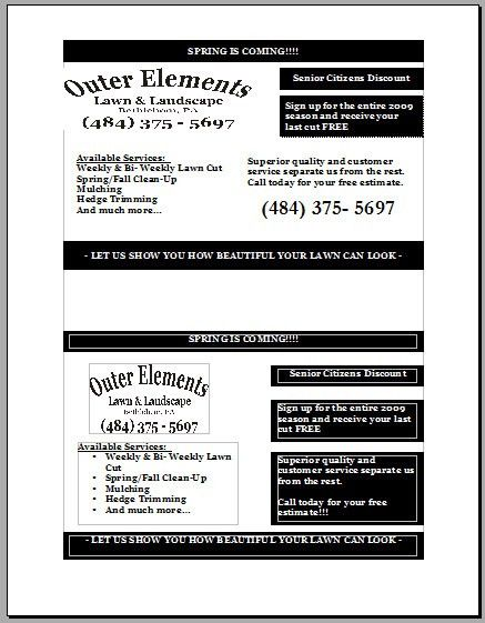 Lawn care business flyer response rates. | Lawn Care Business ...