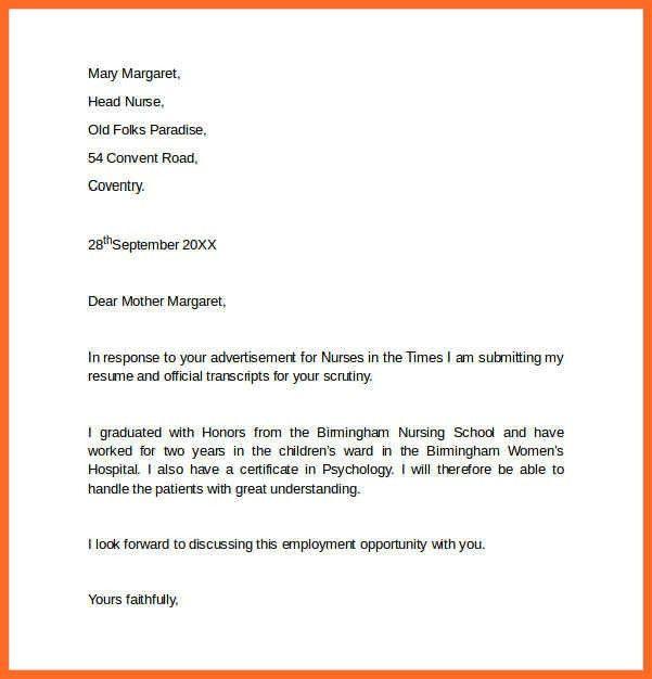 employment cover letter | soap format