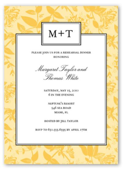 Guide to Wedding Rehearsal Dinner Invitation Templates