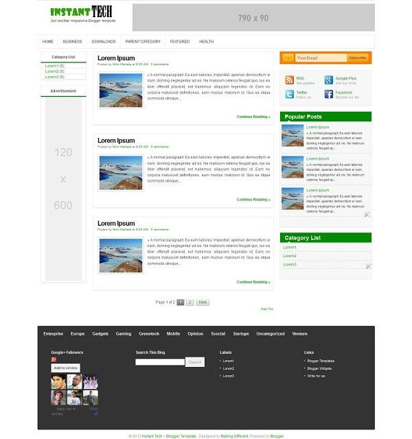 Instant Tech ~ Blogger Template Free Download !