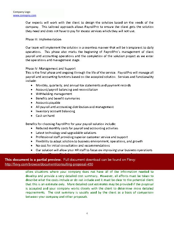 Consulting proposal template word - Business Proposal Templated ...