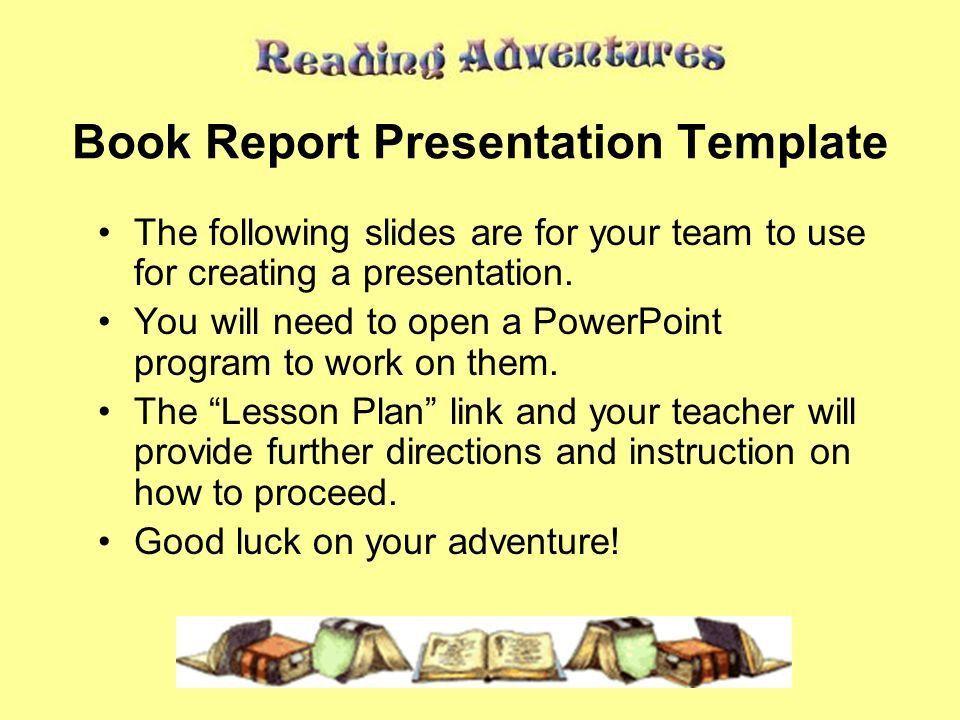 Powerpoint Book Report Template - Casseh.info