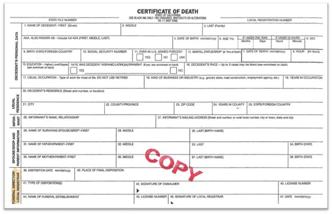 Death Certificate Instructions - A non-profit, community-based ...