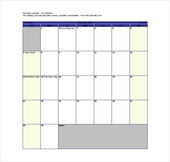 16+ Printable Microsoft Word Calendar Templates | Free & Premium ...