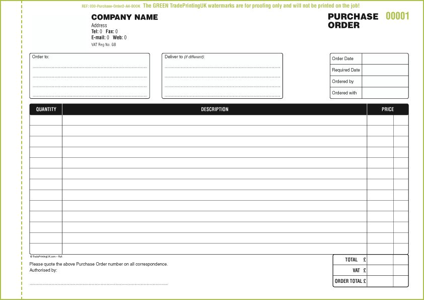 FREE Purchase Order Books Templates | Purchase Order Books | NCR Books