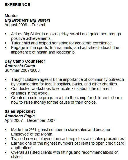 sample resume volunteer work volunteer resume social worker