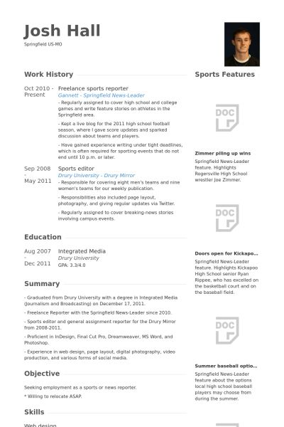 Journalism Resume Samples Journalist Resume Samples Visualcv Resume - News Reporter Resume