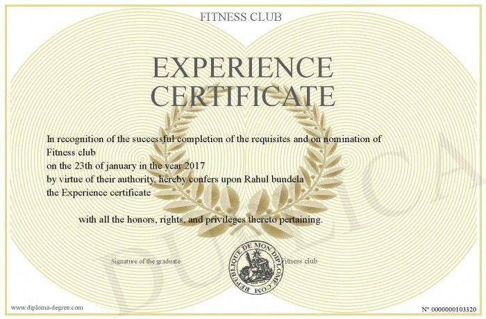 Experience-certificate
