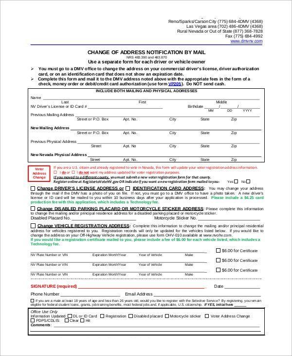 Dmv Change Of Address Forms. Image Titled Change Your Address On ...