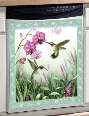 Spring Hummingbird Magnetic Dishwasher Cover from Collections Etc.