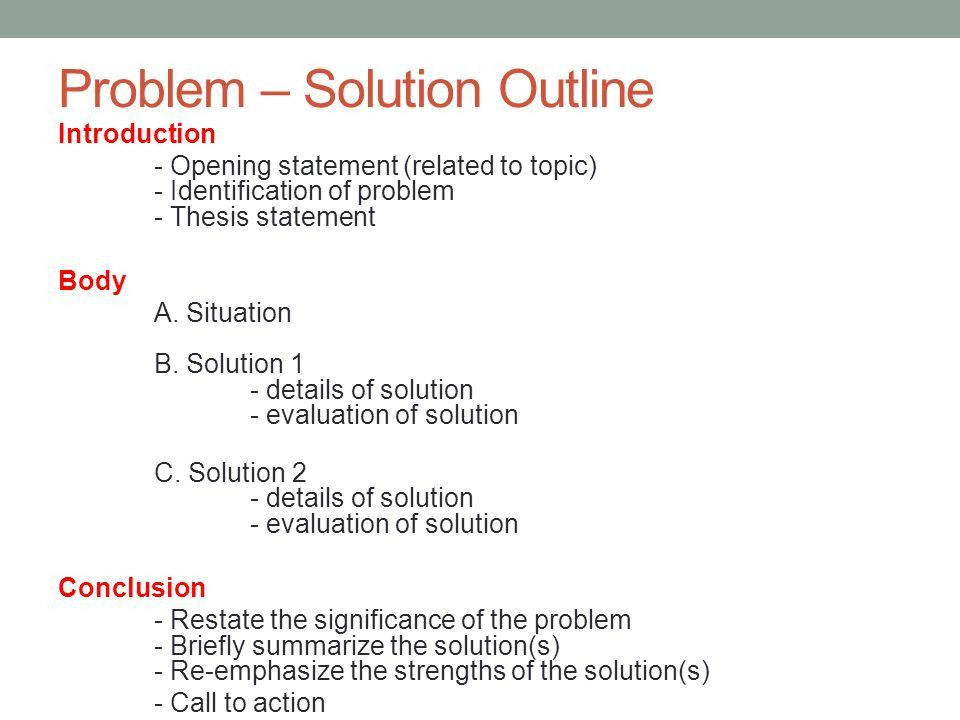 ACADEMIC ENGLISH III November 29, Today Continue Problem-Solution ...