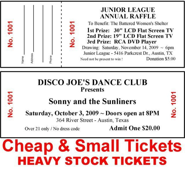 2500 Raffle or Admission Tickets-numbered-cheap-small Fundraiser ...