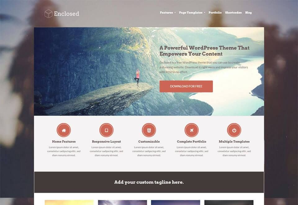 Showcase WordPress Theme - Enclosed