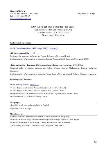 sap bo resume samples business objects resume sample 7 resume