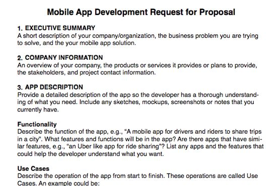 Give you a mobile app rfp template by Alanhalley