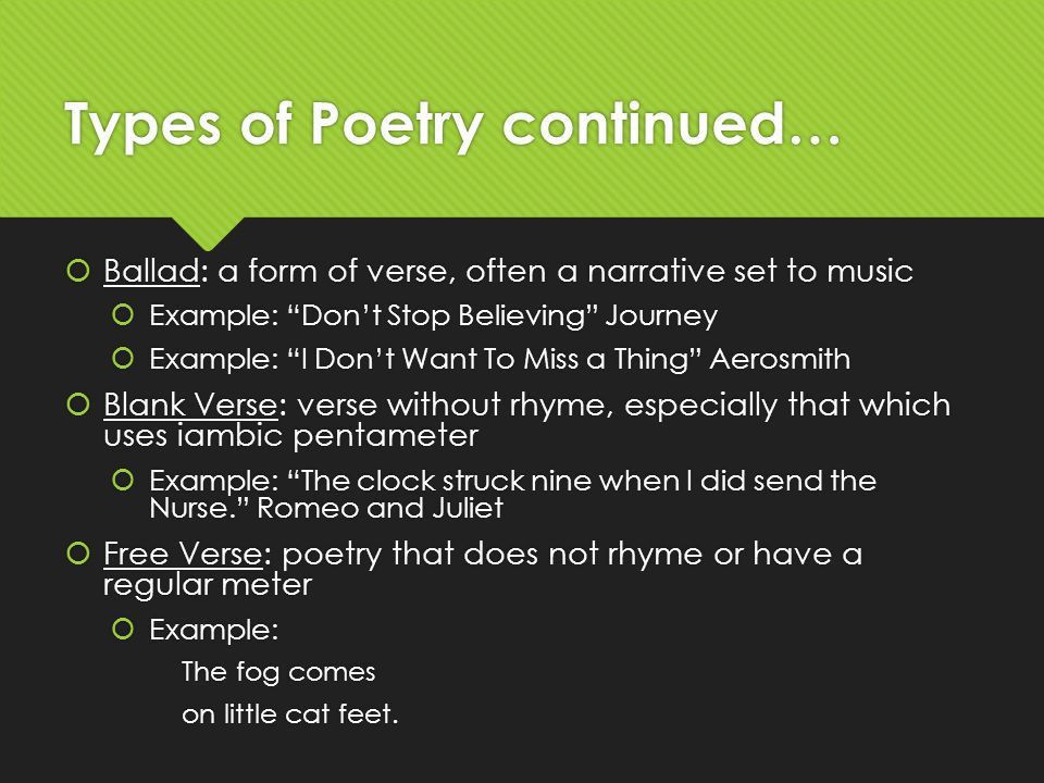 Poetry Terms Use the graphic organizer to fill in the blanks for ...