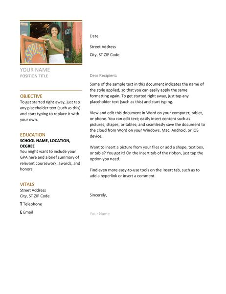 professional cover letter format. winsome inspiration resume and ...