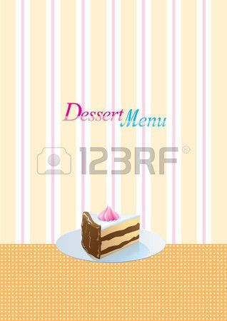 Vintage Style Dessert Menu Template Royalty Free Cliparts, Vectors ...