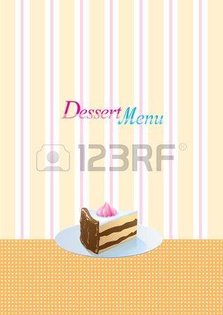 Vintage Style Dessert Menu Template Royalty Free Cliparts, Vectors ...
