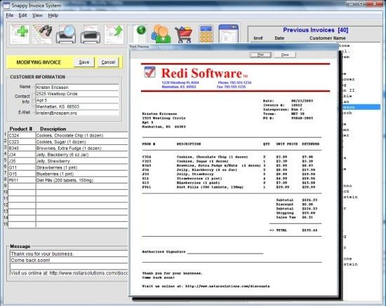 Snappy Invoice System 6.5.1.000 Download