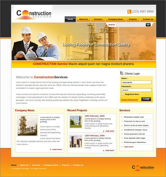 11 real estate website templates themes free premium free 42 engineering website themes templates free premium templates pronofoot35fo Choice Image