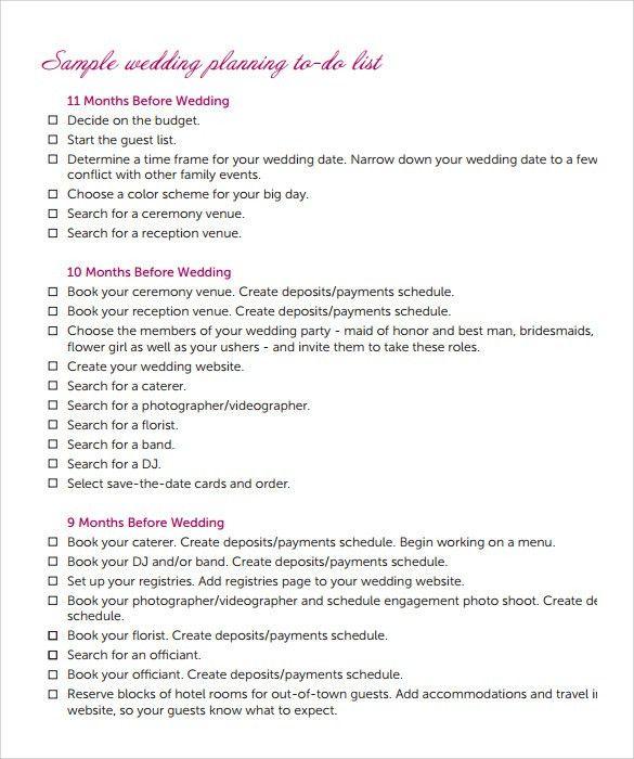 Sample Wedding - 10+ Documents in PDF