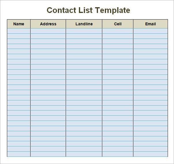 Contact Sheet Template. Parent Teacher Conference Sign In Sheet ...