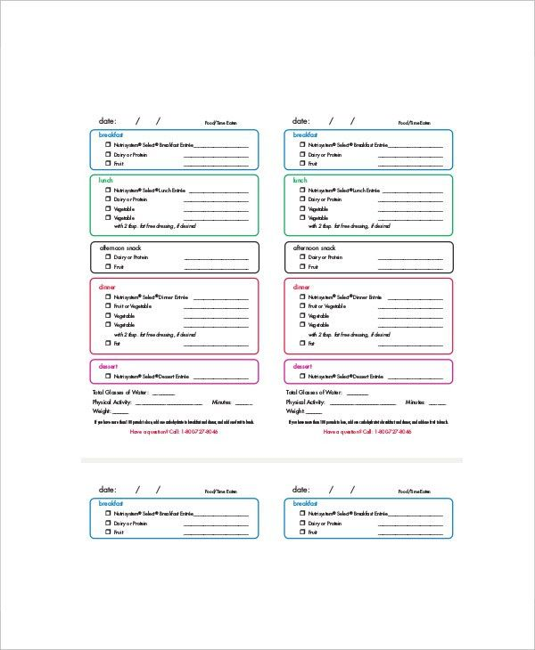6+ Daily Menu Planner Templates - Free Sample, Example, Format ...