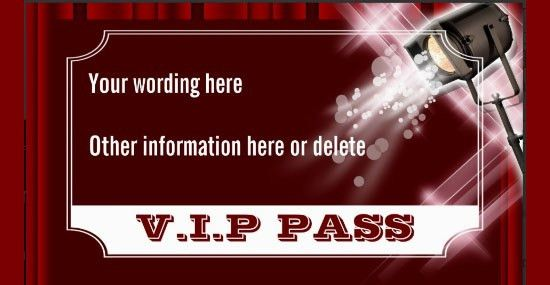 Entry Ticket Template Format, Format of Entry Ticket Template ...