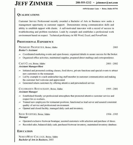 Customer Service Resume Sample - Resume CV Cover Letter