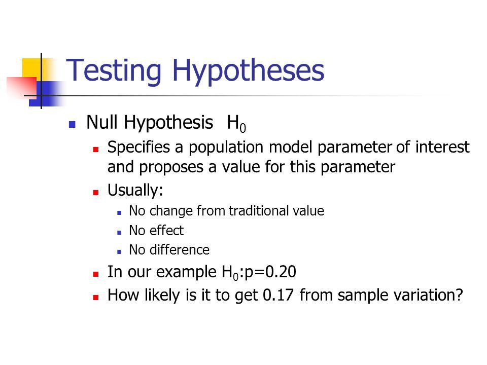 Chapter 20 Testing Hypothesis about proportions - ppt download