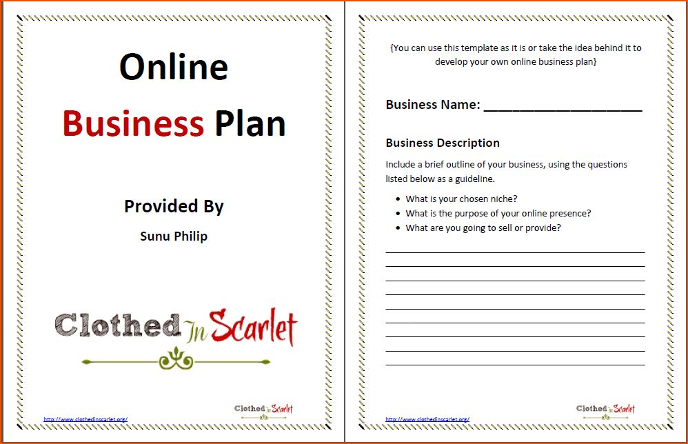 8+ business plan template word - bookletemplate.org