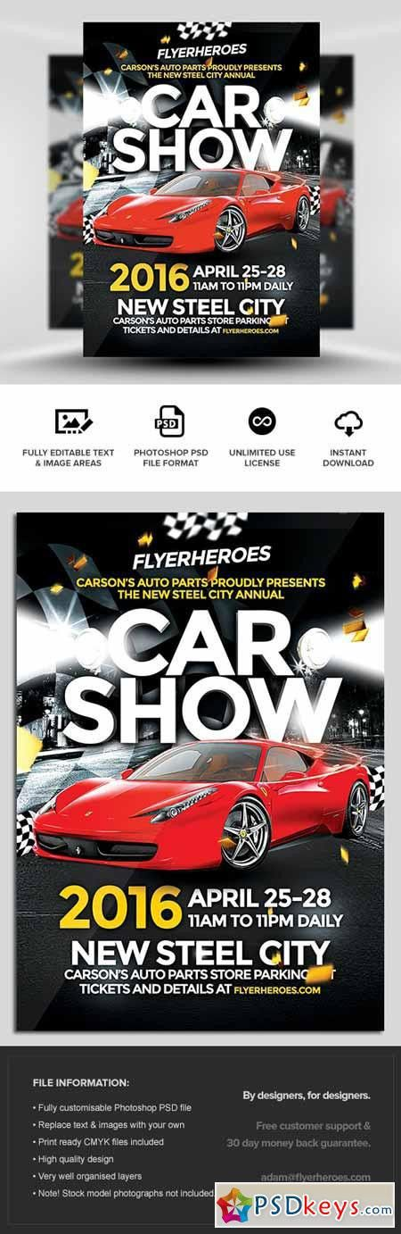 Car Show Flyer Template » Free Download Photoshop Vector Stock ...