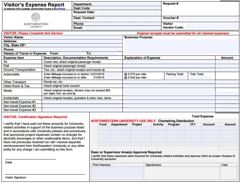 6 Expense Report Form Templates - formats, Examples in Word Excel