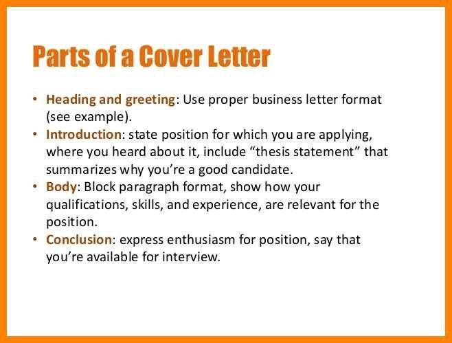 parts of a cover letter | art resumes