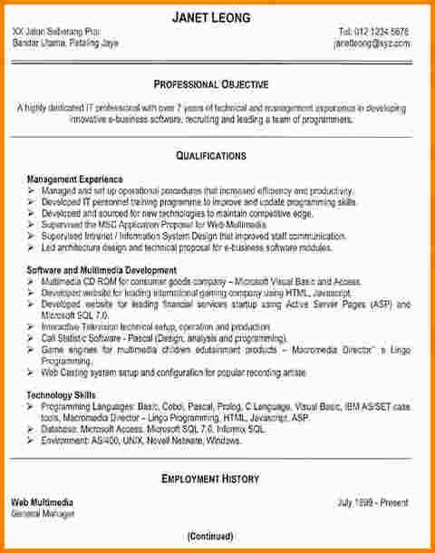 effective resume formats