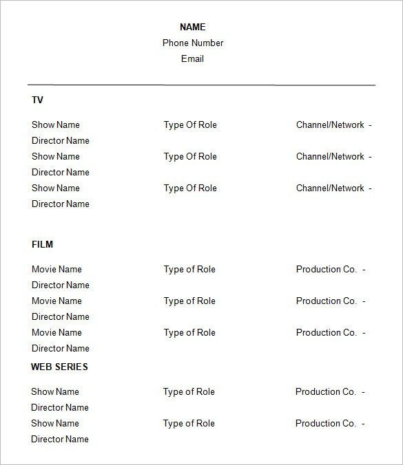 Download Beginner Acting Sample Resume | haadyaooverbayresort.com
