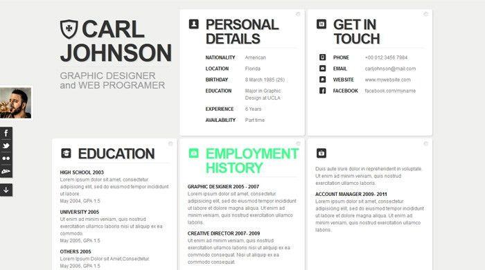 Download Html Resume | haadyaooverbayresort.com