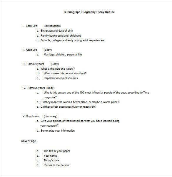 Biography Outline Template – 10+ Free Sample, Example, Format ...
