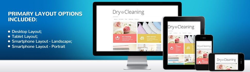 Website Template #47846 Dry Cleaning Company Custom Website ...