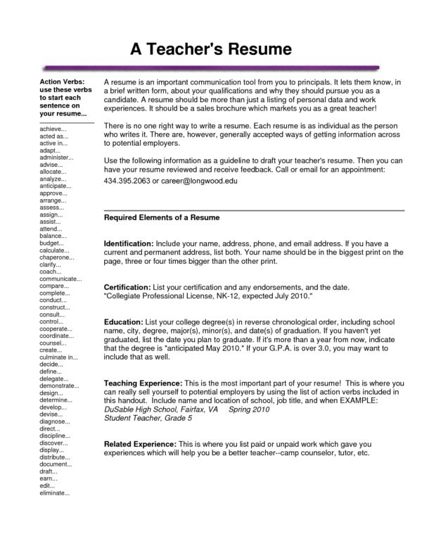 Very Helpful Substitute Teacher Resume Tips and Template Sample ...