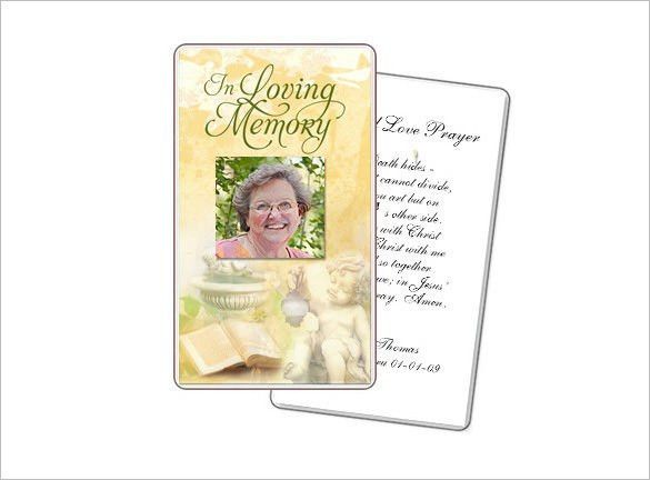 Obituary Card Templates | Download Free U0026 Premium Templates, Forms .